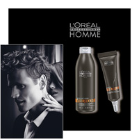 L'OREAL PROFESSIONNEL HOMME - FIBERBOOST and SOIN FIBERFUEL